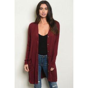 "Sweaters - ❣️ARRIVED❣️ ""Atlas"" burgundy cardigan"